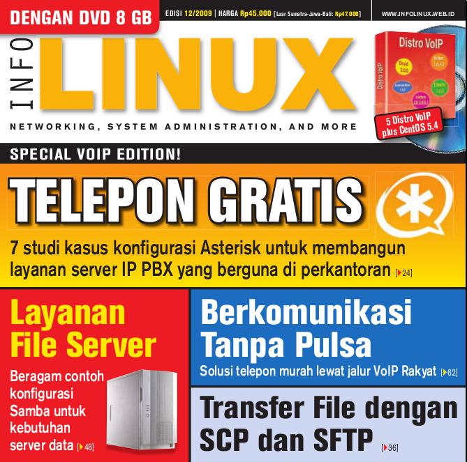 Sampul majalah InfoLINUX edisi Desember 2009