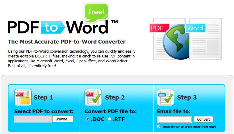 PDFtoWord.com: Convert file PDF ke Word, Gratis