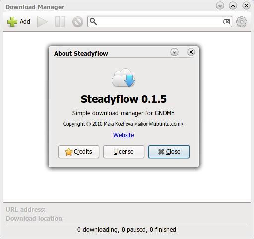 SteadyFlow 0.1.5 di Ubuntu 10.04 Lucid Lynx