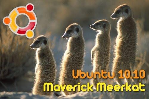 Maskot Ubuntu 10.10 Maverick Meerkat