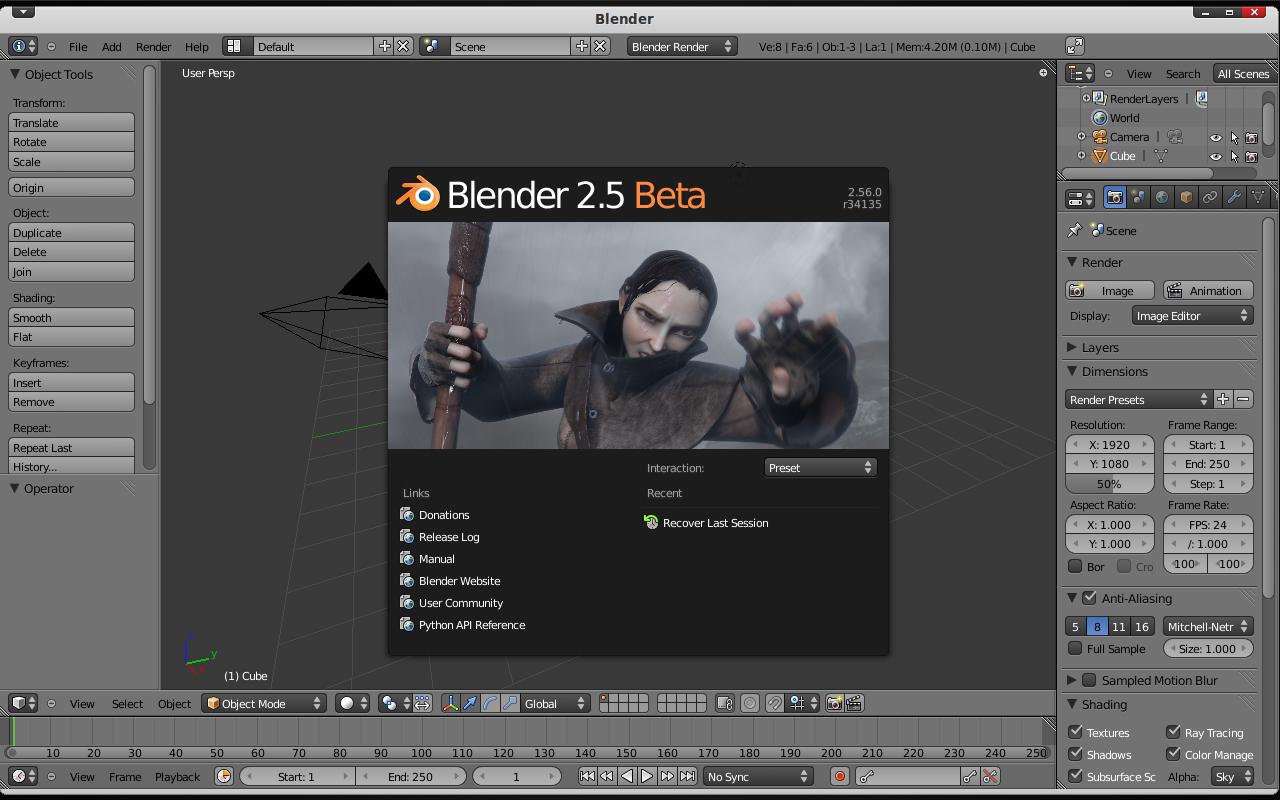 Instal Blender di Ubuntu via PPA