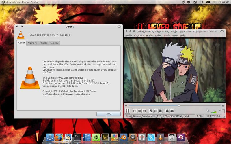 VLC 1.1.6 di Ubuntu 10.10 Maverick Meerkat
