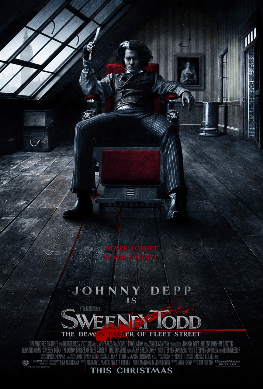Download  Sweeney Todd - O Barbeiro Demoníaco da Rua Fleet (2007) BDRIP BLURAY 720P TORRENT DUBLADO