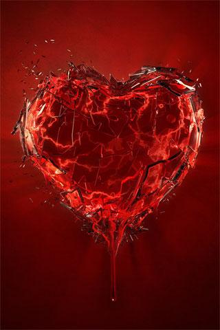 imagenes de corazones rotos de amor. corazones rotos por el amor