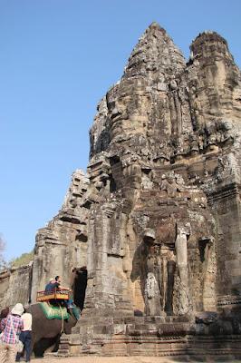 vista da entrada de Angkor Thom, Siem Reap