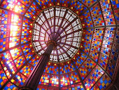 Stained Glass Ceiling at Old State Capitol