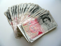 modern currency british pound sterling notes