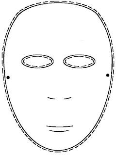 Plain Masquerade Mask Templates   New Calendar Template Site