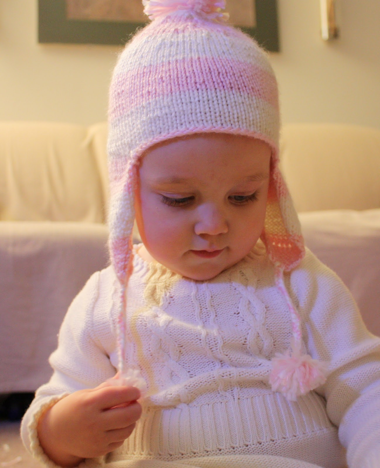 Kids Knit Hat Patterns : Everyday Art: Childrens Knit Ear Flap Hat