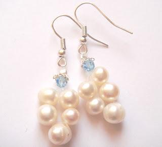k166 swarovski pearl earrings - Pearl earings