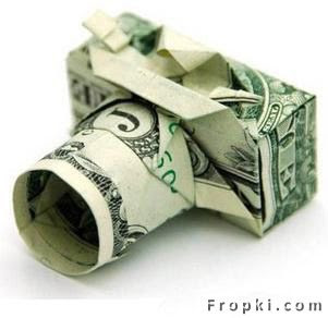 Origami Money,Artist Marc Sky of  New Jersey has hundreds of Origami Sculptures made of money. You can order his  works online or book him for parties.