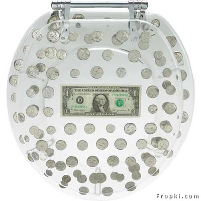 Yes, this money seat  can be yours for only $60. There are many novelty money seats for sale,Don't Flush the Money Down the Toilet