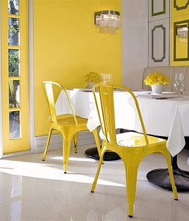 Interior Decoration in YELLOW dining