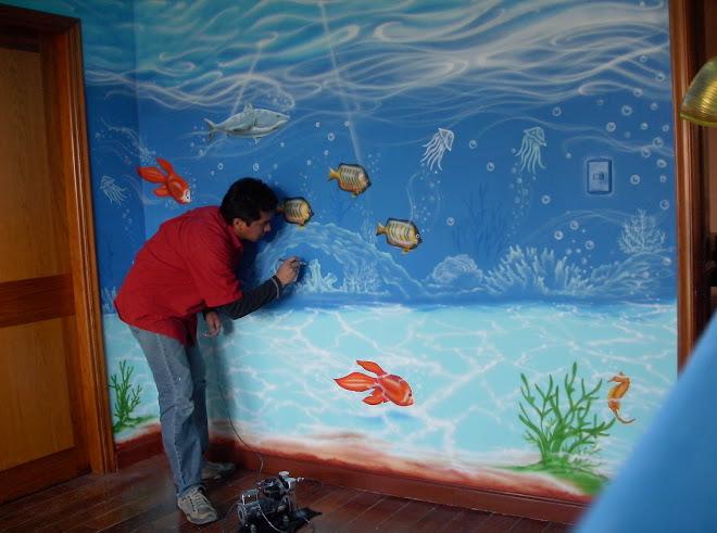 Murales infantiles arte decorativo paredes techos for Murales infantiles