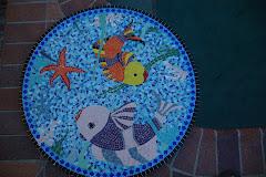 fish mosaic table top