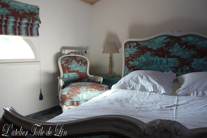 chambre style Louis XV revisitée