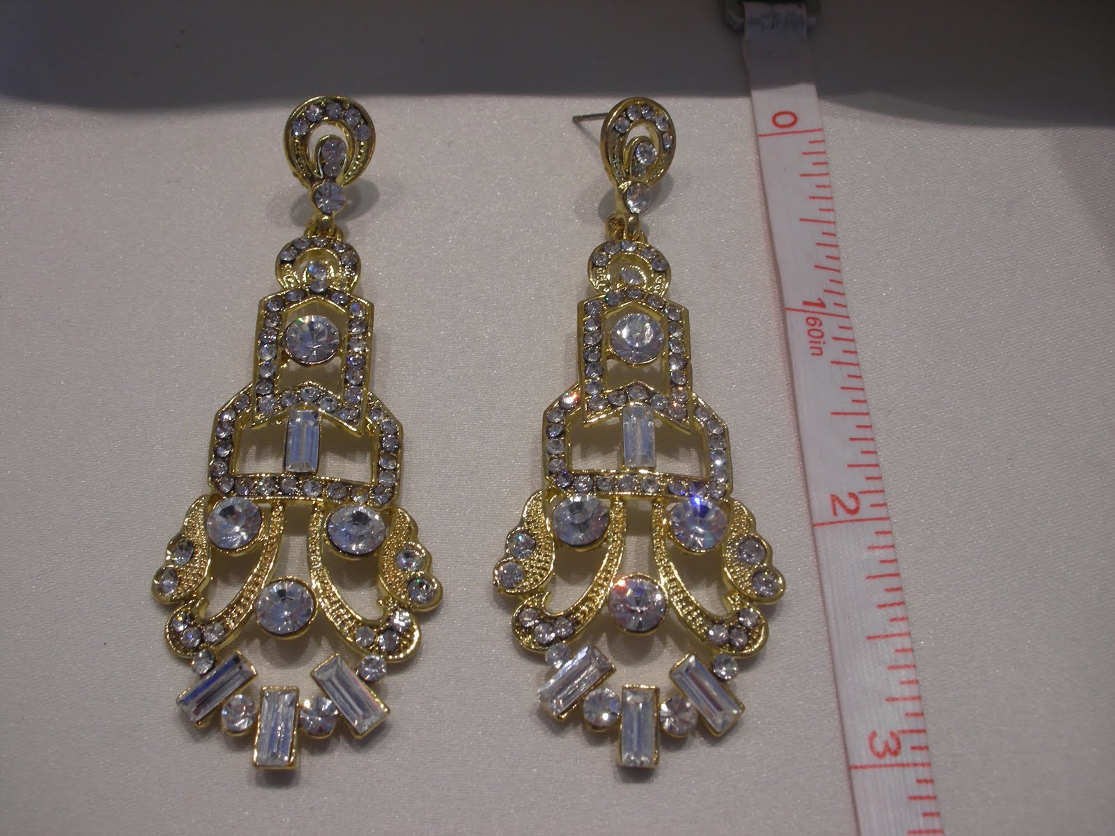Everything but the dress gold wedding earrings golden deco chandelier earrings 195 arubaitofo Choice Image