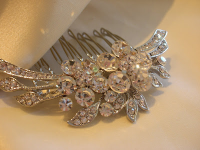Site Blogspot  Wedding Hairstyles on Crystal Cluster Comb   78  Match The Arc To The Curve Of Your Head