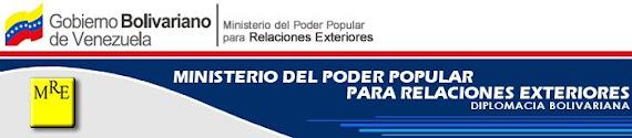 MINISTERIO DEL PODER POPULAR PARA LAS RELACIONES EXTERIORES