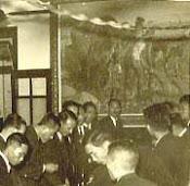 李石樵〈農家樂〉1946(背景)