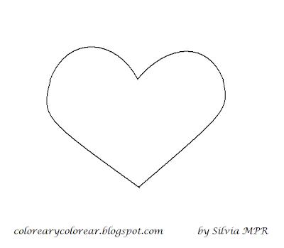 corazones de amor para dibujar. corazoncito para pintar