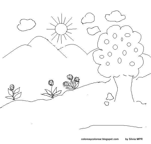 Worksheet. Paisajes naturales facil de dibujar  Imagui