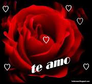 . dia de San Valentin , te entrego todo mi amor en un beso y un TE AMO (hermosa rosa rojate amo en letras corazones)