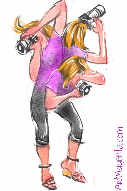 The Photographer is a sketch by illustrator Artmagenta