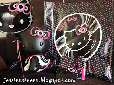 "1 soft black pleather 8"" Hello Kitty plush doll @ RM 169.90"