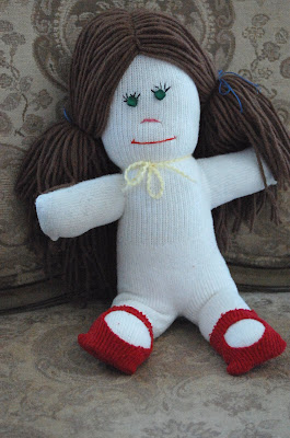 recycling ideas: make your own sock doll