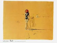 mujer con flores, Dali