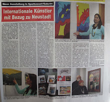 Mariellage en el Diario local / in the local newspaper (Neustadt an der Aisch, Alemania / Germany)