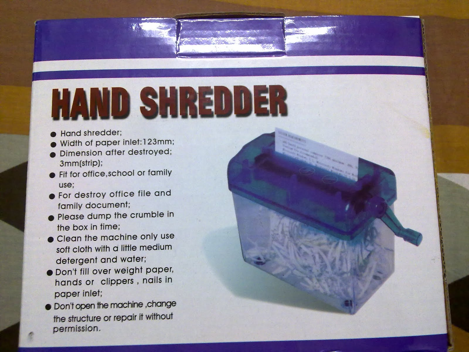 mini paper shredder for sale All you have to do is cut in half the a4 size paper and place half the paper into the paper shredder, then slowly shred the paper by hand i only use 80gsm you cannot use anything thicker than that otherwise it will ruin your mini paper shredder please let me know how much it costs and where to buy.
