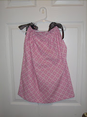 Pink and brown pillowcase top (5t)
