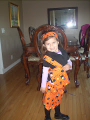 halloween skirt outfit with matching purse and headband
