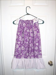 Purple and polka dot  4t pillowcase dress