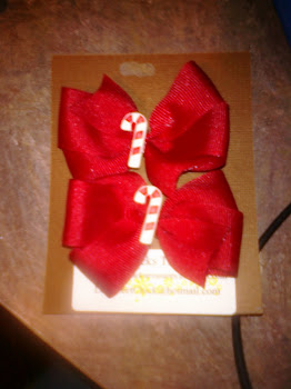 Candy Cane Christmas Bows