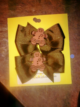 Gingerbread Christmas Bows