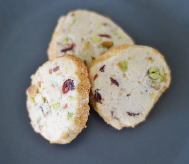 ... Getting Over the Cookie Slump: Pistachio Cranberry Icebox Cookies