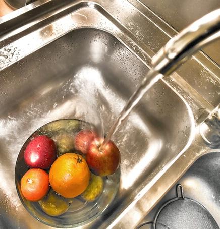 Houten keuken gootstenen for Clean significato