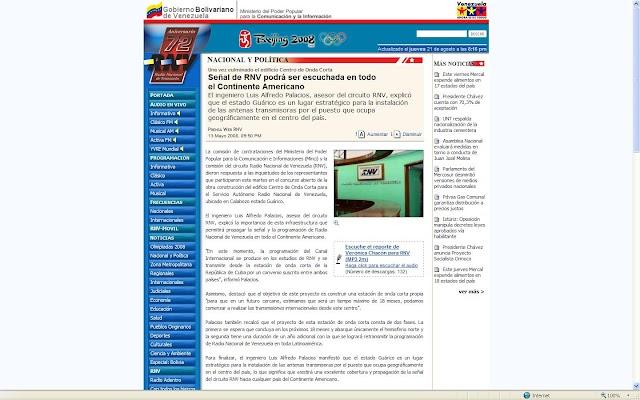 Ubicando a Radio Nacional de Venezuela en Google Earth