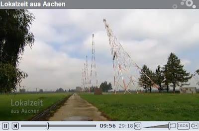 Alemania: Demolicion del transmisor en Juelich.