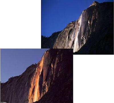 加州 火瀑布