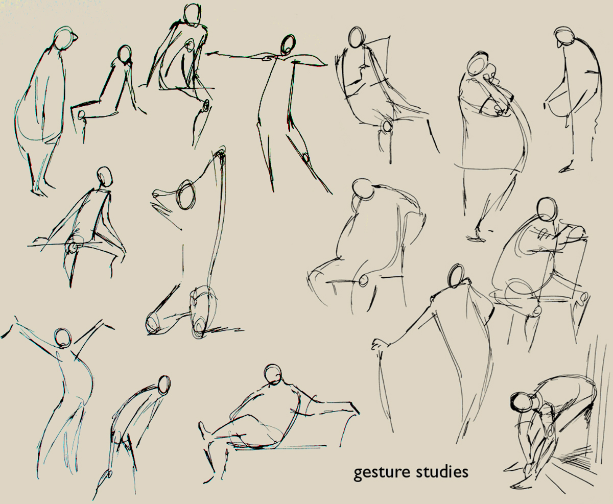 Scribble Gesture Drawing : The quick gesture pencil jammers