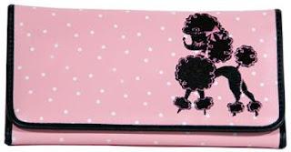 checkbook wallet, pink