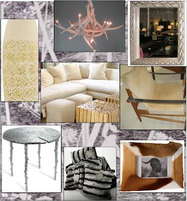 winter design, decor,abchome,antler chandelier,karl springer mirror,zafari chair, zarahome,ankasa,michael aram