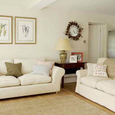 Home interior design neutral living room ideas for Neutral home decor ideas