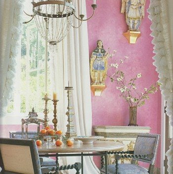 Lovely pink dining room, dining room, interior design, home interior