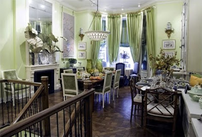 celery-green dining room, dining room, interior design, home interior