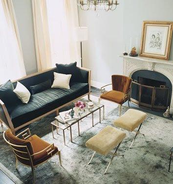 Lumax Gray+%2B+silver+living+room